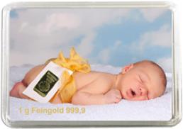 1g Feingoldbarren, Baby