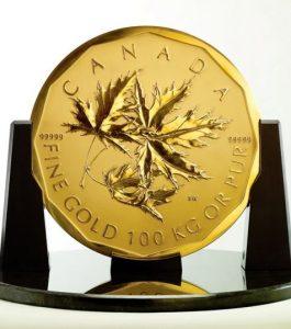 Big Maple Leaf Goldmünze