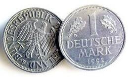 1 Deutsche Mark Vorder- und Rückseite 1992
