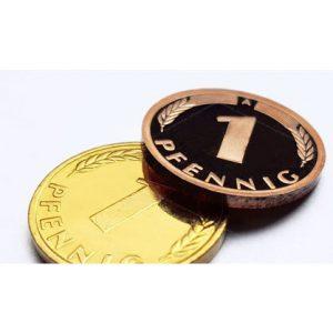 1 Pfennig vergoldet