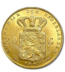 10 Gulden Münze Niederlande 1897