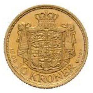 1908 Münze 10 Kronen Dänemark
