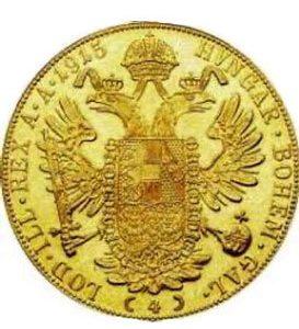 1915 Viererdukaten Münze