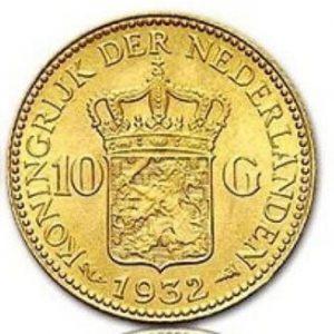 1932 Florin Tientje 10g Münze Niederlanden