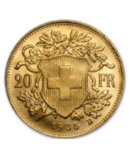 20 Schweizer Franken Münze 1935