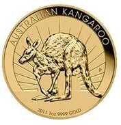 Australian Kangaroo Dollar Nugget 2011 Münze 1OZ
