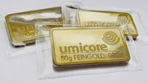 Goldbarren Umicore 50g Feingold