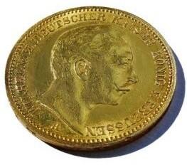 Goldmünze Deutscher Kaiser König von Preussen