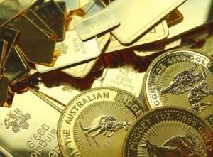 Goldmünzen Goldbarren