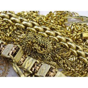 Goldschmuck Haufen Ketten