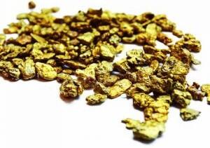 Kleine Goldnuggets