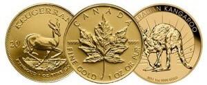 Anlagemünzen Gold 1OZ Krügerrand Maple Leaf Australian Kangaroo