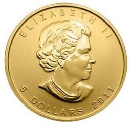 Münze Gold Elisabeth II Jahrgang 2011 (5 Dollars)