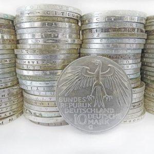 Numismatik Silber Münzen 10 Deutsche Mark