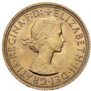 Pfund Sovereign Münze Elisabeth II