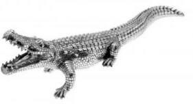 Platin Krokodil weißes Gold