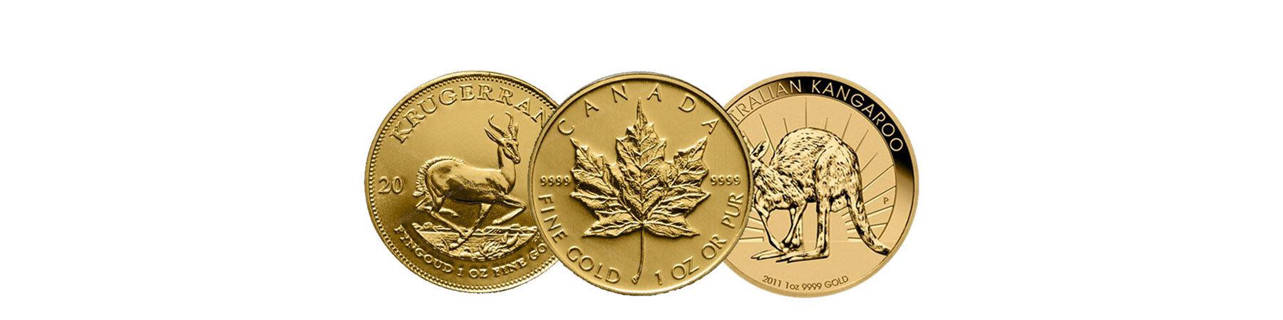 Anlagemünzen Gold 1 Oz Krügerrand Maple Leaf Australian Kangaroo.jpg